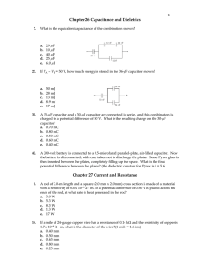 Chapter 26 Capacitance and Dieletrics