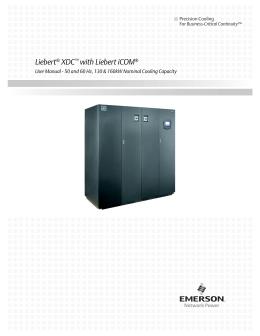 liebert® air cooled fin tube condensers liebert xdc liebert icom