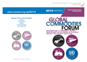 GLOBAL COMMODITIES  FORUM