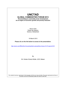 UNCTAD  GLOBAL COMMODITIES FORUM 2013