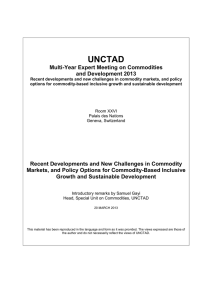 UNCTAD  Multi-Year Expert Meeting on Commodities and Development 2013