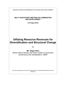 Utilizing Resource Revenues for Diversification and Structural Change  by
