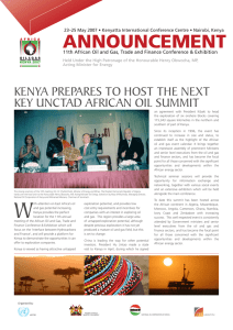 ANNOUNCEMENT Kenya prepares to host the next Key UnCtaD afriCan oil sUmmit