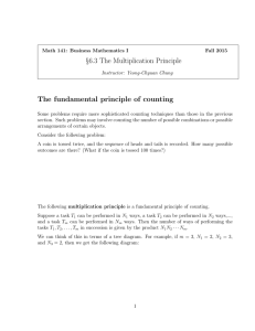 §6.3 The Multiplication Principle The fundamental principle of counting