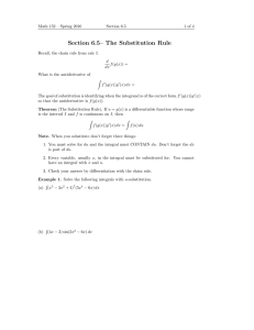 Section 6.5– The Substitution Rule