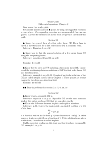 Study Guide Differential equations: Chapter 2 How to use this study guide: