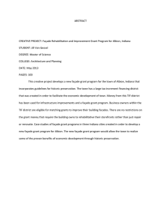 ABSTRACT  CREATIVE PROJECT: Façade Rehabilitation and Improvement Grant Program for Albion,... STUDENT: Jill Van Gessel