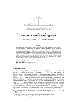 Regenerative compositions in the case of slow Alexander Gnedin Alexander Iksanov