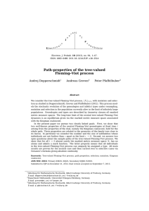 Path-properties of the tree-valued Fleming–Viot process Andrej Depperschmidt Andreas Greven
