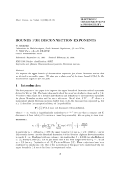 BOUNDS FOR DISCONNECTION EXPONENTS