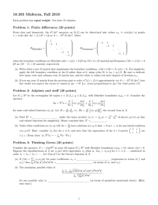 18.303 Midterm, Fall 2010 Problem 1: Finite differences (20 points)