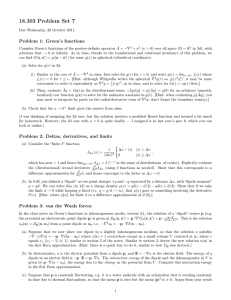 18.303 Problem Set 7 Problem 1: Green's functions