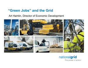 """Green Jobs"" and the Grid Art Hamlin, Director of Economic Development"