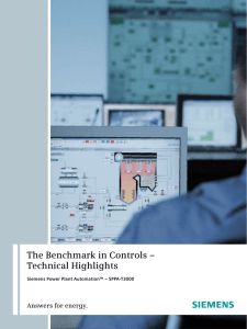 The Benchmark in Controls – Technical Highlights Answers for energy.