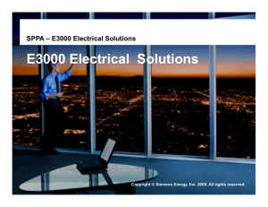 E3000 Electrical  Solutions  SPPA – E3000 Electrical Solutions Copyright ©