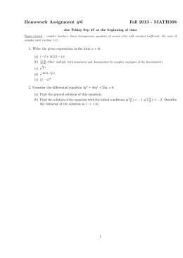 Homework Assignment #6 Fall 2013 - MATH308