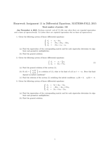 Homework Assignment 11 in Differential Equations, MATH308-FALL 2015