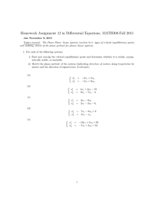 Homework Assignment 12 in Differential Equations, MATH308-Fall 2015