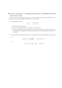 Homework Assignment 13 in Differential Equations, MATH308-FALL 2015