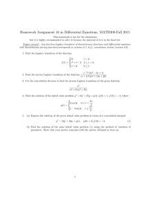 Homework Assignment 16 in Differential Equations, MATH308-Fall 2015