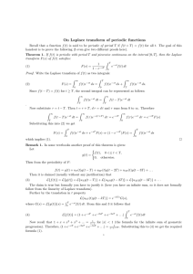 On Laplace transform of periodic functions