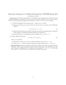 Homework Assignment 5 in Differential Equations, MATH308-Spring 2015