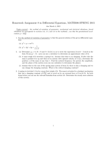 Homework Assignment 8 in Differential Equations, MATH308-SPRING 2015