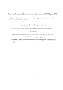 Homework Assignment 11 in Differential Equations, MATH308-Spring 2015