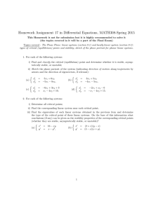Homework Assignment 17 in Differential Equations, MATH308-Spring 2015
