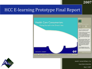 HCC E-learning Prototype Final Report 2007 Iowa State University