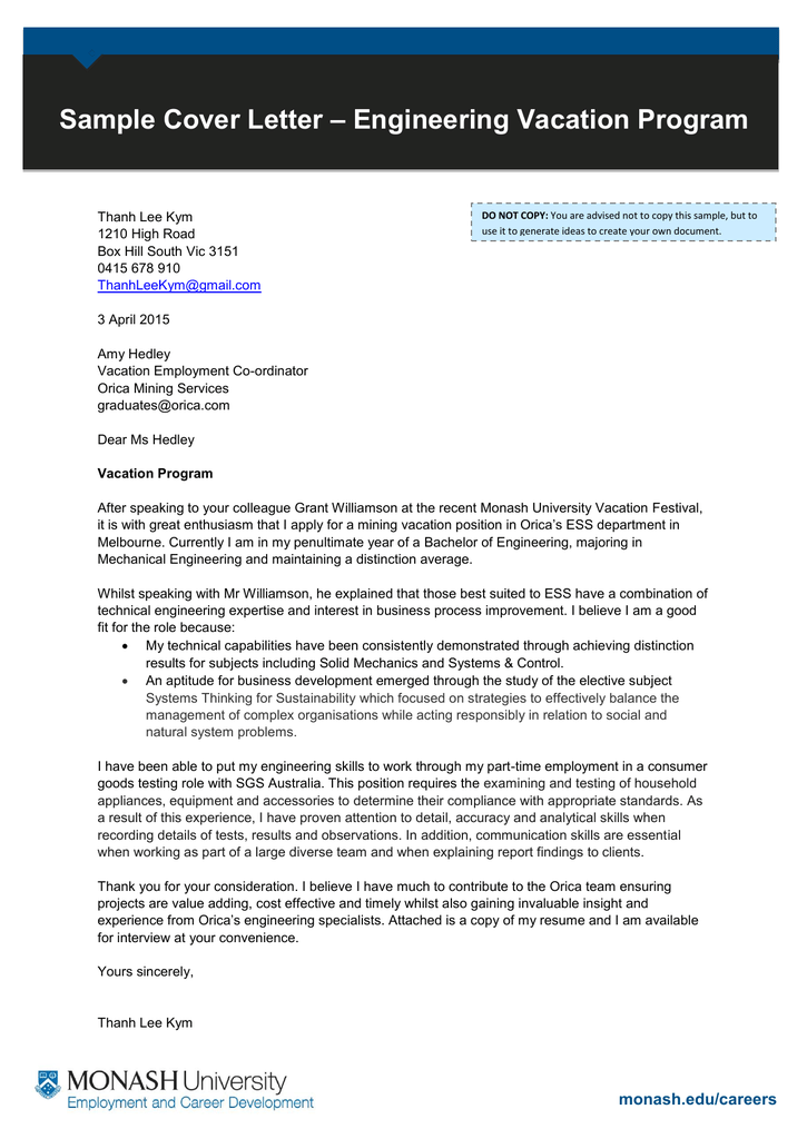 letter of appliance to the university of melbourne mechanical engineering Choose to study this msc mechanical engineering  with university pricing if you are being sponsored by your company please attach a sponsorship letter with your.
