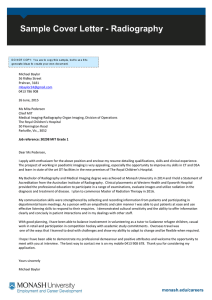 Sample Cover Letter - Radiography