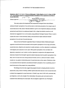 AN ABSTRACT OF THE DISSERTATION OF