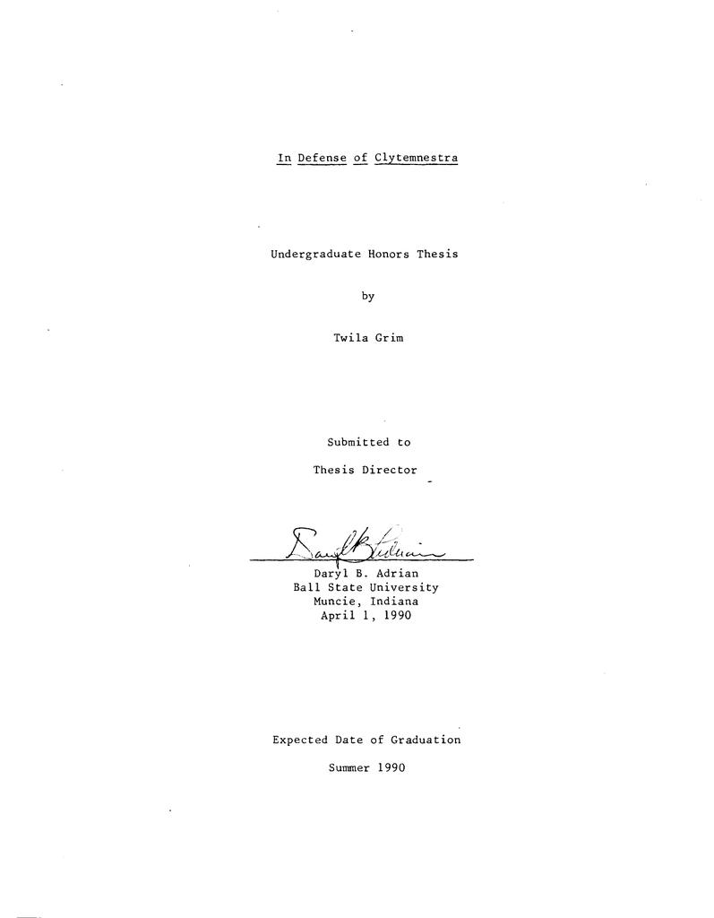 Clytemnestra thesis youth in nazi germany essay