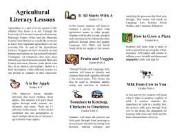Agricultural Literacy Lessons It All Starts With A
