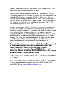 Research Assistants Wanted for NSF-Funded Study Examining the Effects