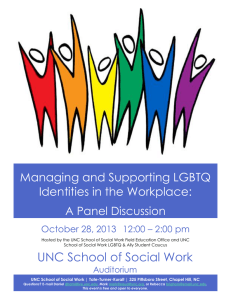 Managing and Supporting LGBTQ Identities in the Workplace: A Panel Discussion