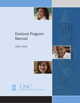 Doctoral Program Manual 2013–2014