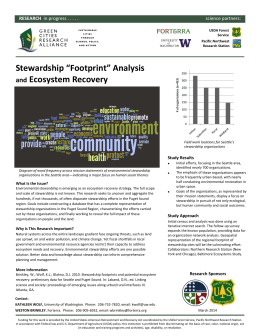 "Stewardship ""Footprint"" Analysis Ecosystem Recovery and"