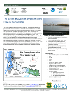 The Green-Duwamish Urban Waters Federal Partnership  RESEARCH