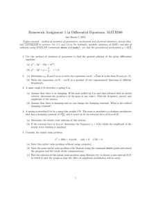 Homework Assignment 5 in Differential Equations, MATH308