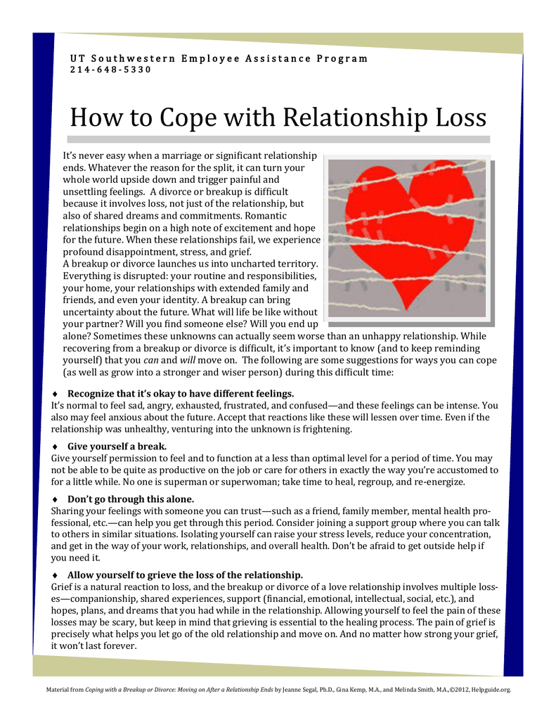 How to deal with relationship breakups