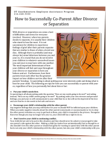 How to Successfully Co-Parent After Divorce or Separation