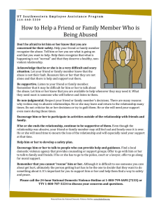 How to Help a Friend or Family Member Who is