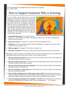 How to Support Someone Who is Grieving