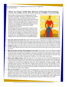 How to Cope with the Stress of Single Parenting