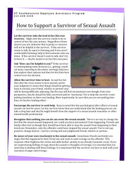 How to Support a Survivor of Sexual Assault