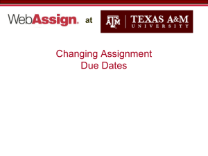 Changing Assignment Due Dates  at