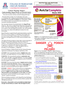 Caution! Warning! Danger! Understanding Signal Words on Pesticide Labels