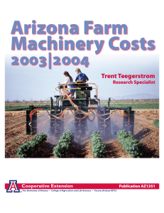 Arizona Farm Machinery Costs 2003|2004 Trent Teegerstrom